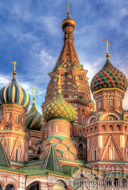 Onion domes, St. Basil's Cathedral - Red Square, Moscow, Russia, Kremlin