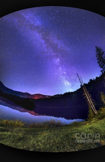 Milky Way photography with Light Painting at Silver Lake, Brighton, Utah