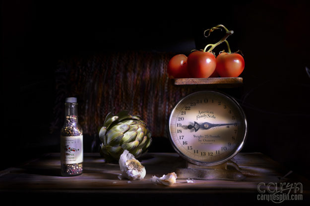 Fine Art Light Painting - Chiaroscuro - Farmers Market - Shadows