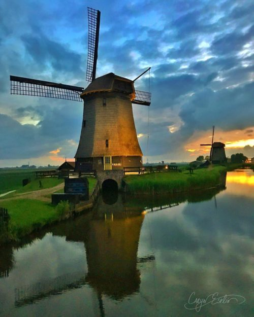 Dutch Windmills - Holland - Netherlands - Caryn Esplin - Blue Hour